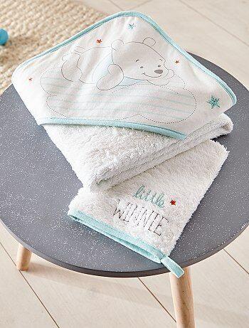 Ensemble cape de bain + gant assorti - Kiabi