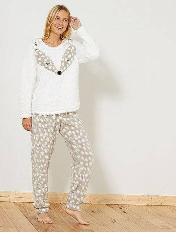 Ensemble de pyjama matière sherpa - Kiabi