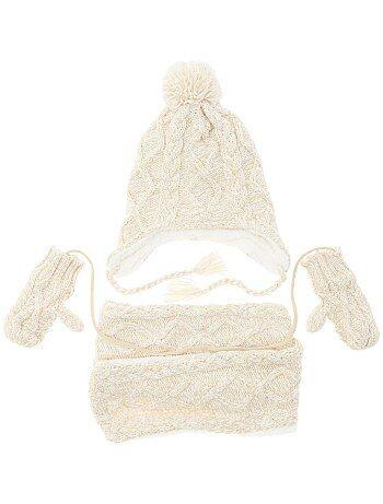 Garçon 0-36 mois - Ensemble écharpe + bonnet + moufles - Kiabi
