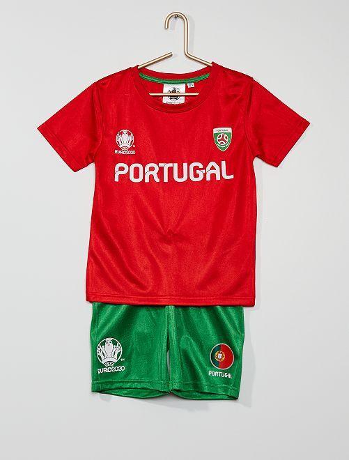 Ensemble 'Equipe du Portugal' 'UEFA'                             rouge