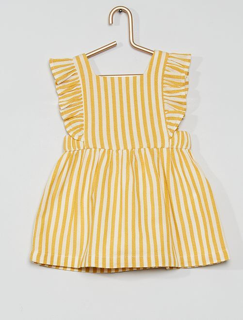 Ensemble robe + bloomer éco-conçu                             jaune