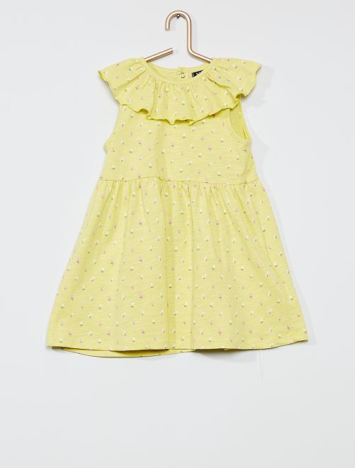 Ensemble robe + culotte                             vert/fleurs