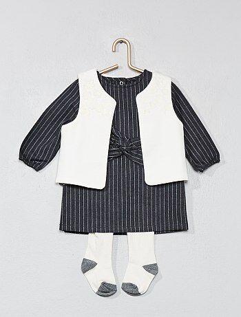 Ensemble robe + gilet + collants - Kiabi