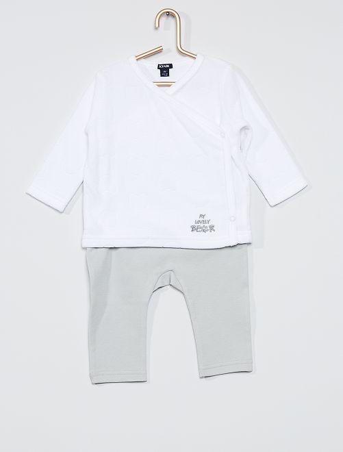 Ensemble t-shirt + pantalon 'ours'                                         gris