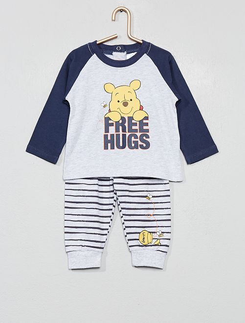 Ensemble t-shirt + pantalon 'Winnie l'ourson'                                         gris Bébé garçon