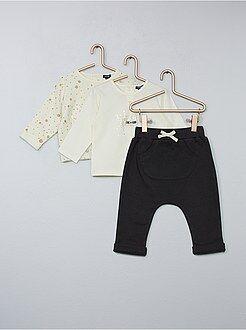 Ensemble - Ensemble t-shirt + sweat + pantalon - Kiabi