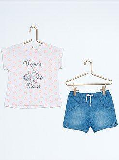 Fille 0-36 mois Ensemble tee-shirt + short 'Minnie'