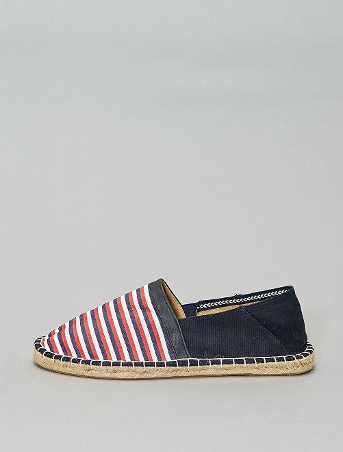 Espadrilles élastiquées                                         bleu/blanc/rouge