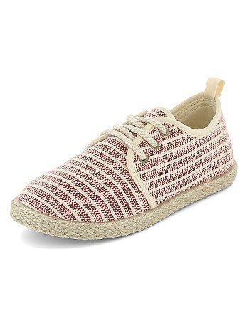 Espadrilles en textiles style baskets - Kiabi
