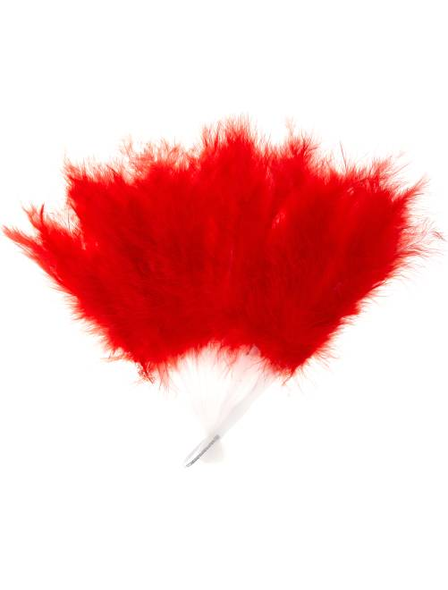 Eventail plume                                                                 rouge Femme