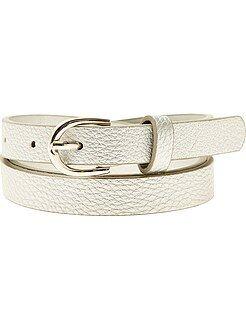 Accessoires gris - Fine ceinture