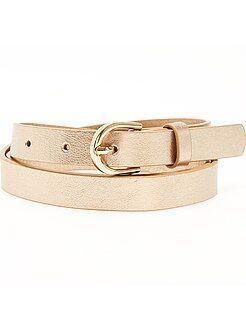 Accessoires orange - Fine ceinture