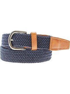 Fine ceinture tressée - Kiabi