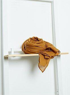 Accessoires - Foulard rectangulaire en voile doux irisé