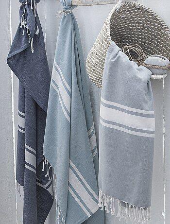 Fouta de plage pur coton - Kiabi