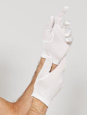 Gants blancs courts - Kiabi