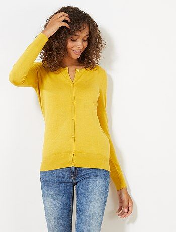 b7f605ceec01e Gilet Femme   jaune   Kiabi