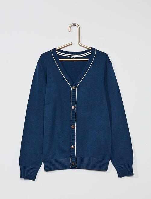 Gilet en coton éco-conçu                                                     bleu