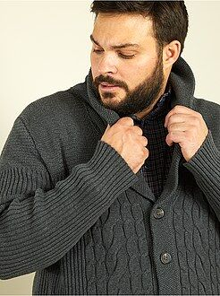 Pull, gilet - Gilet maille col châle
