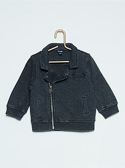 Pull, gilet, sweat - Gilet zippé broderie 'ours'