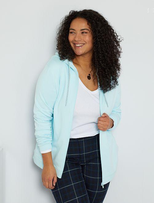 Gilet zippé éco-conçu                                                                 bleu clair