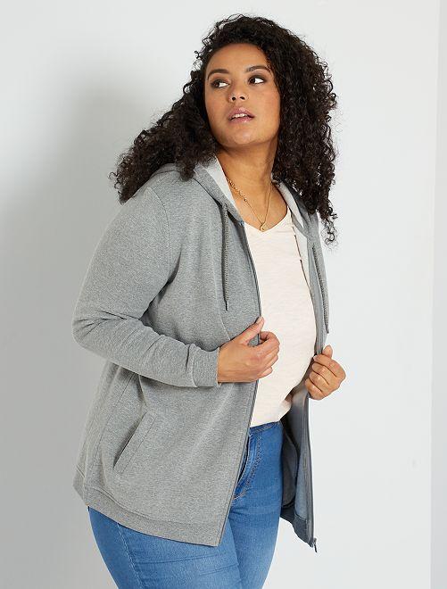 Gilet zippé éco-conçu                                                                 gris