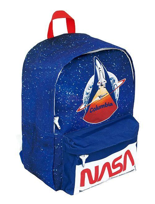Grand sac à dos 'Nasa'                             bleu/rouge
