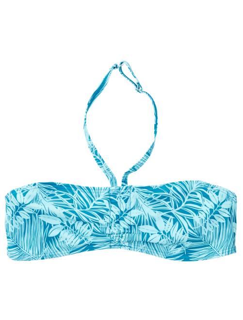 Haut de maillot de bain bandeau twisté                                                         bleu Fille adolescente