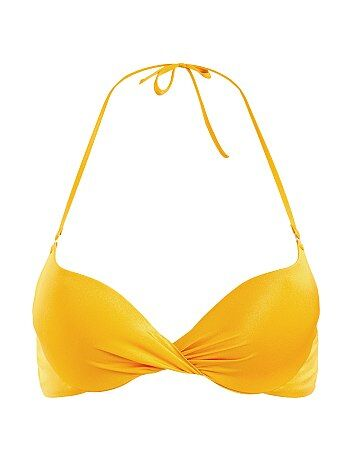 Haut de maillot de bain push-up twisté - Kiabi