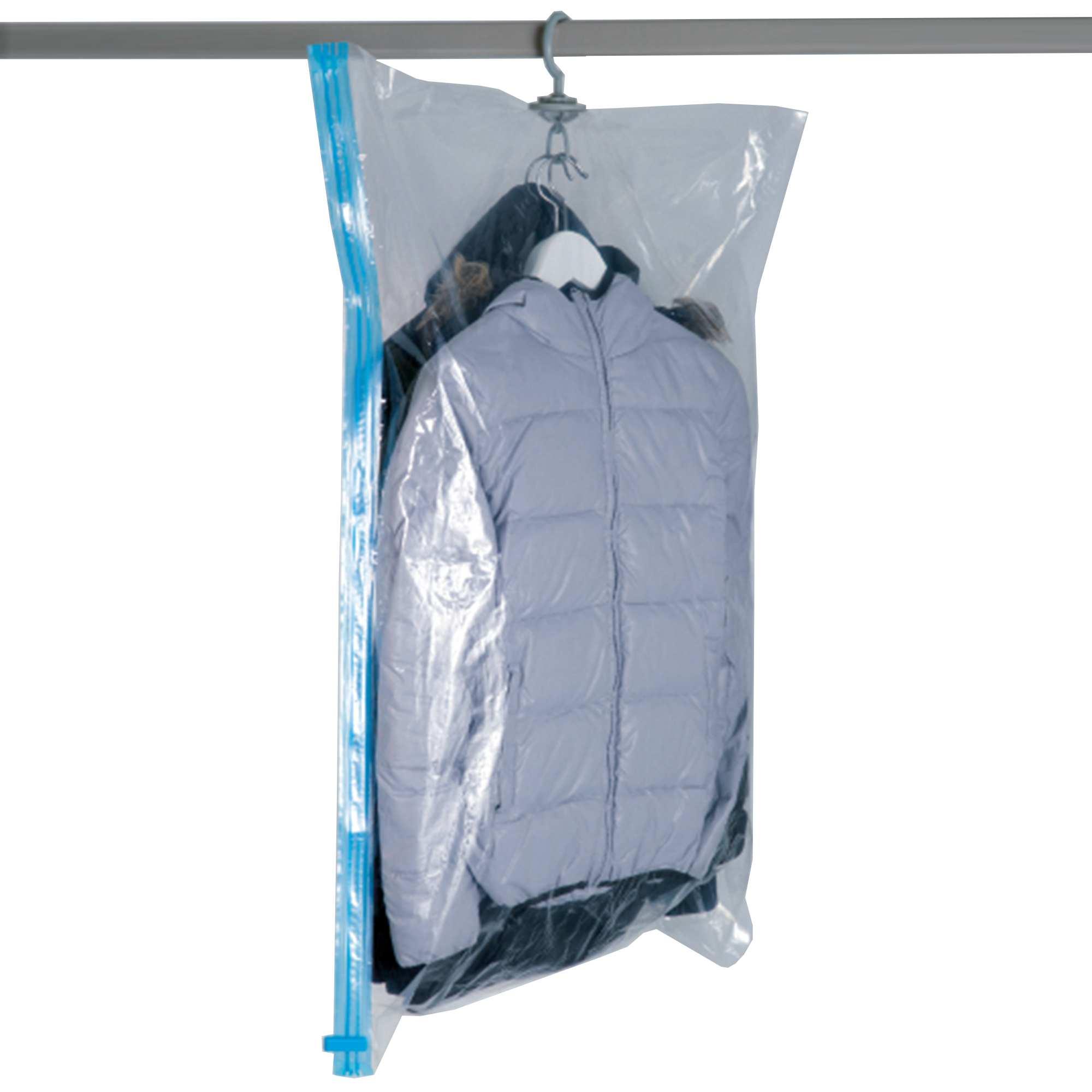 Housse sous vide pour cintres linge de lit kiabi 4 00 for Housse rangement sous vide carrefour
