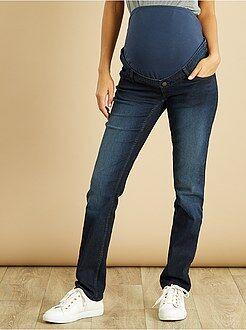 Maternité Jean de grossesse coupe droite stretch