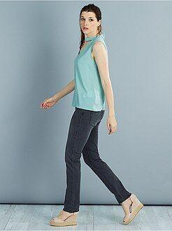 Jean regular, droit - Jean droit super taille haute - Longueur US32