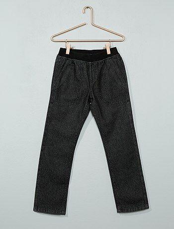 Jean droit taille élastique - Kiabi