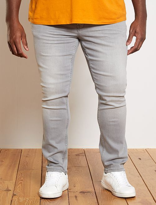 Jean fitted coton stretch L32                                                                             gris clair