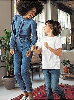 Jean taille haute - Jean mom à taille très haute