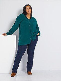 Grande taille femme Jean regular en denim stretch longueur 82 cm