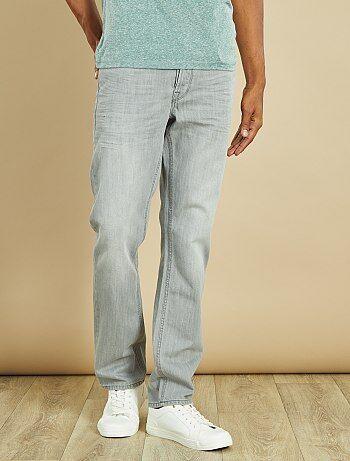 Jean regular longueur US32                                                                                         gris clair Homme