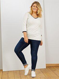 Jean slim - Jean skinny 5 poches effet push-up L32