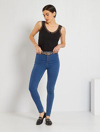 Femme du 34 au 48 - Jean skinny braguette boutonnée - Kiabi