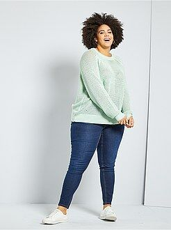 Grande taille femme Jean skinny effet push-up L30