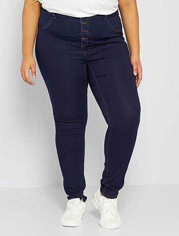 Jean skinny en denim stretch taille haute - Kiabi
