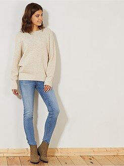 Jean taille haute - Jean skinny super taille haute longueur US 32