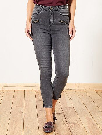 Femme du 34 au 48 - Jean skinny taille haute 7/8e - Kiabi