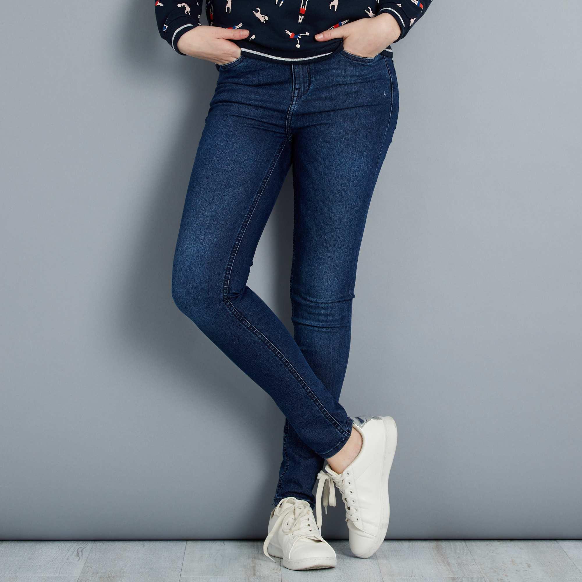 jean skinny taille haute longueur us 30 femme bleu. Black Bedroom Furniture Sets. Home Design Ideas