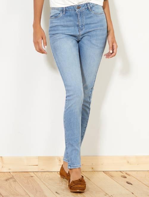 jean skinny taille haute longueur us 30 femme double stone kiabi 15 00. Black Bedroom Furniture Sets. Home Design Ideas