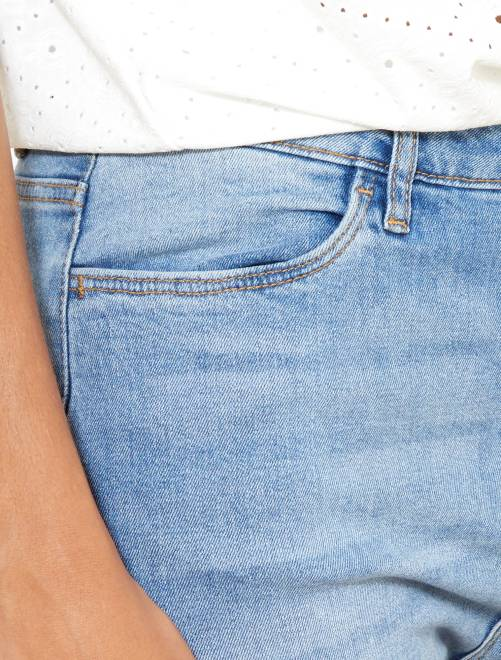 jean skinny taille haute longueur us 30 femme kiabi 15 00. Black Bedroom Furniture Sets. Home Design Ideas