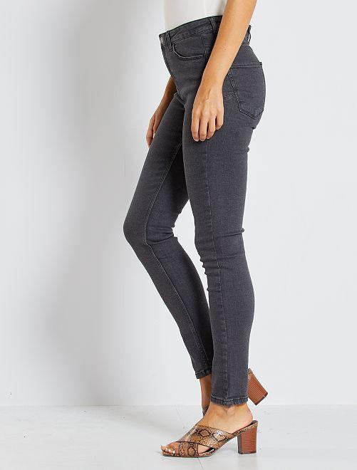 jean skinny taille haute longueur us 30 femme gris. Black Bedroom Furniture Sets. Home Design Ideas