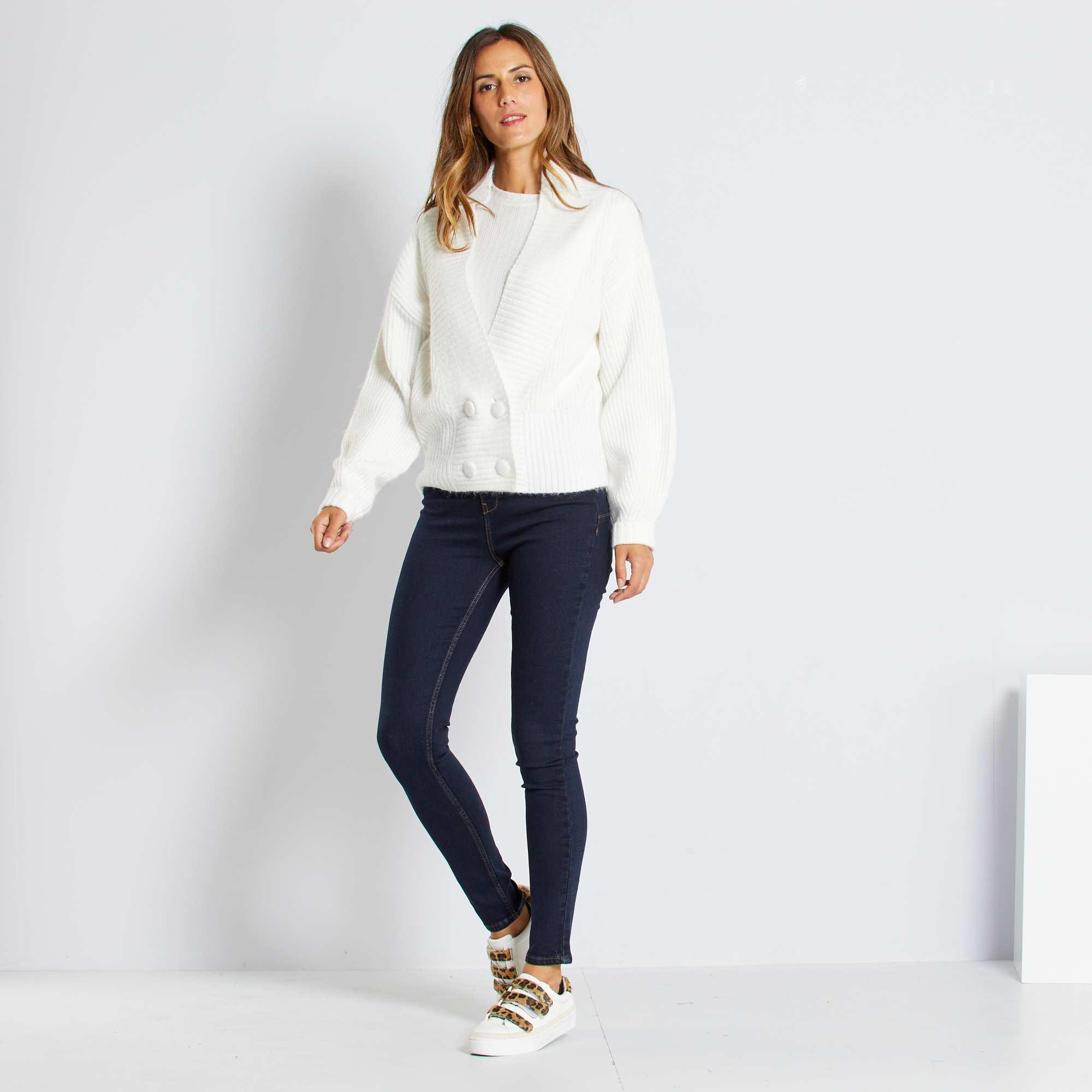 jean skinny taille haute longueur us 30 femme rinse kiabi 15 00. Black Bedroom Furniture Sets. Home Design Ideas