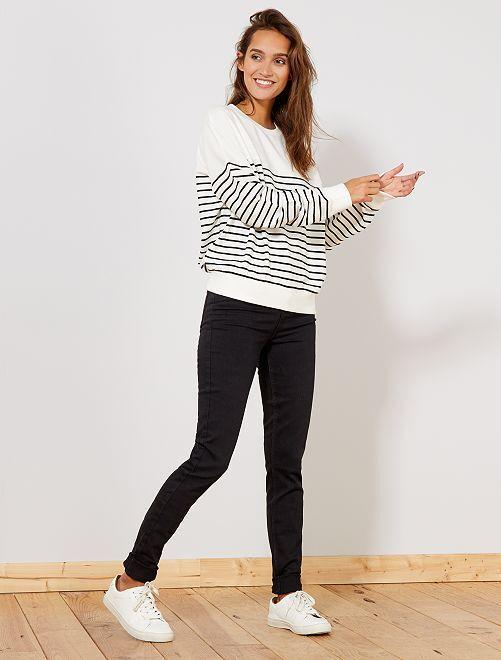 jean skinny taille haute longueur us 34 femme noir. Black Bedroom Furniture Sets. Home Design Ideas