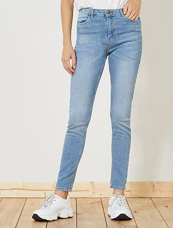Femme du 34 au 48 - Jean skinny taille haute longueur US28 - Kiabi